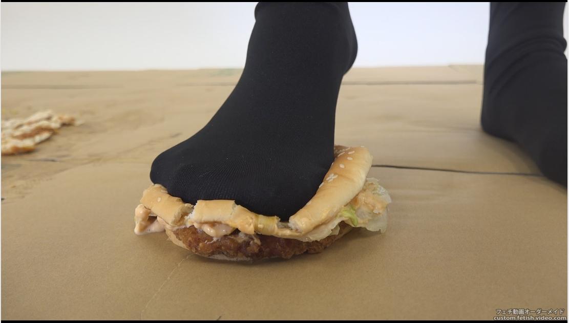 靴の中でフードクラッシュ