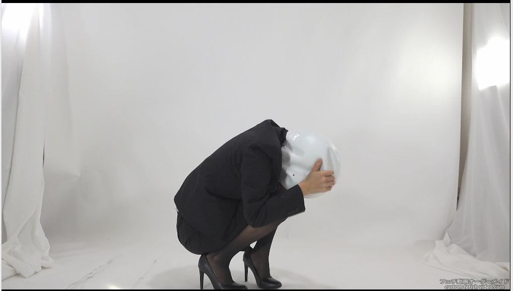 マスクで覆われた女性