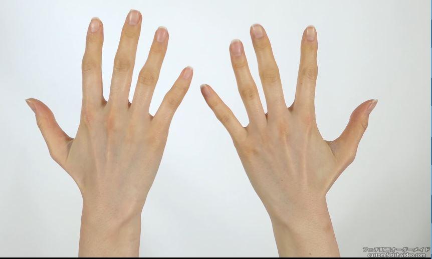 エッチな手の指